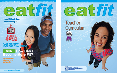 Eatfit workbook and guide covers
